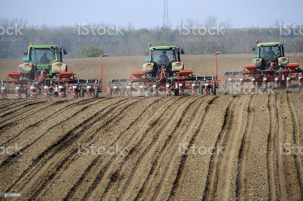 tractor - Agriculture machine royalty-free stock photo