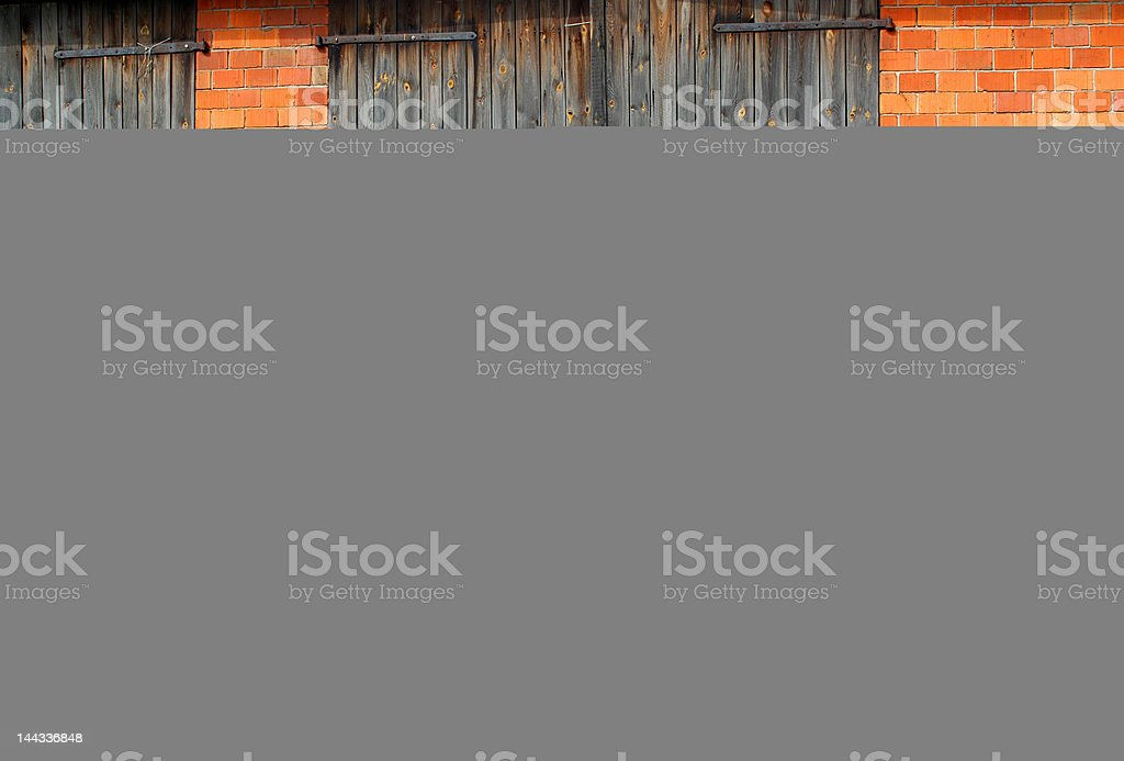 Tractor and farm royalty-free stock photo
