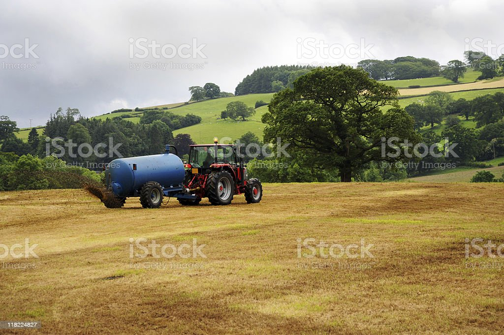 Tractor and Fields royalty-free stock photo