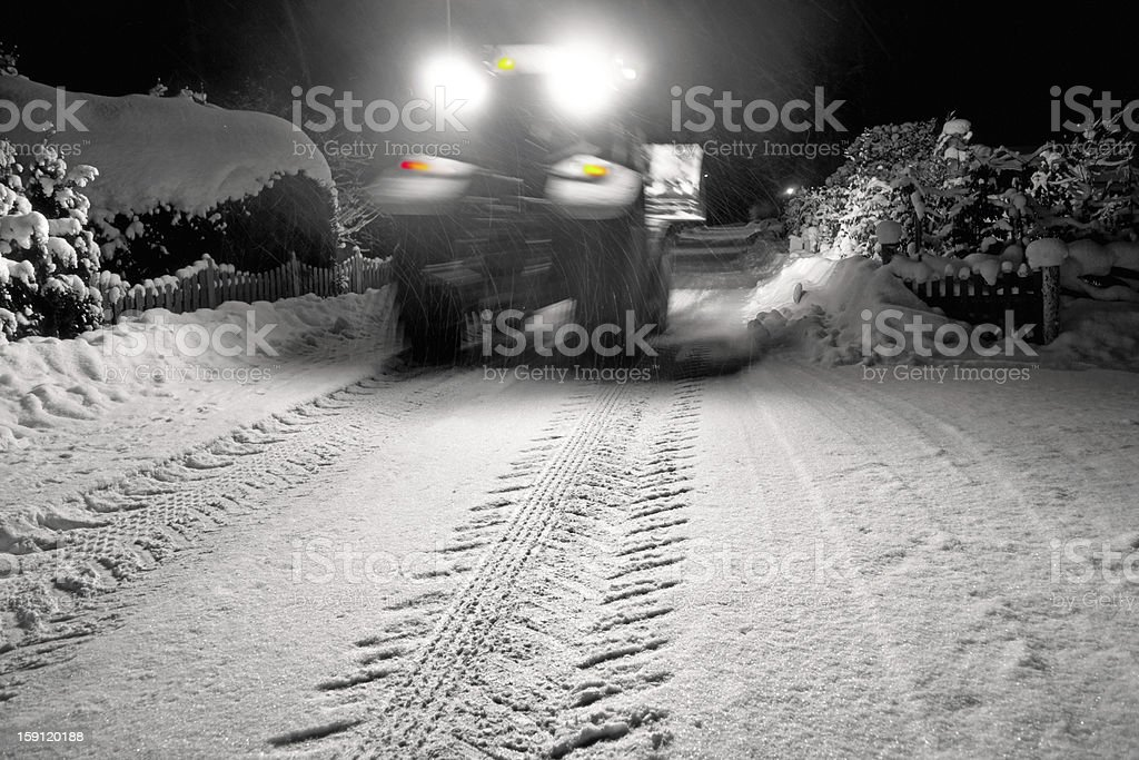 Tractor clearing snow royalty-free stock photo