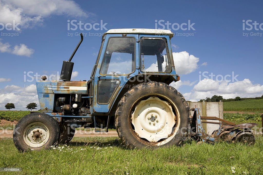 Tractor close-up royalty-free stock photo