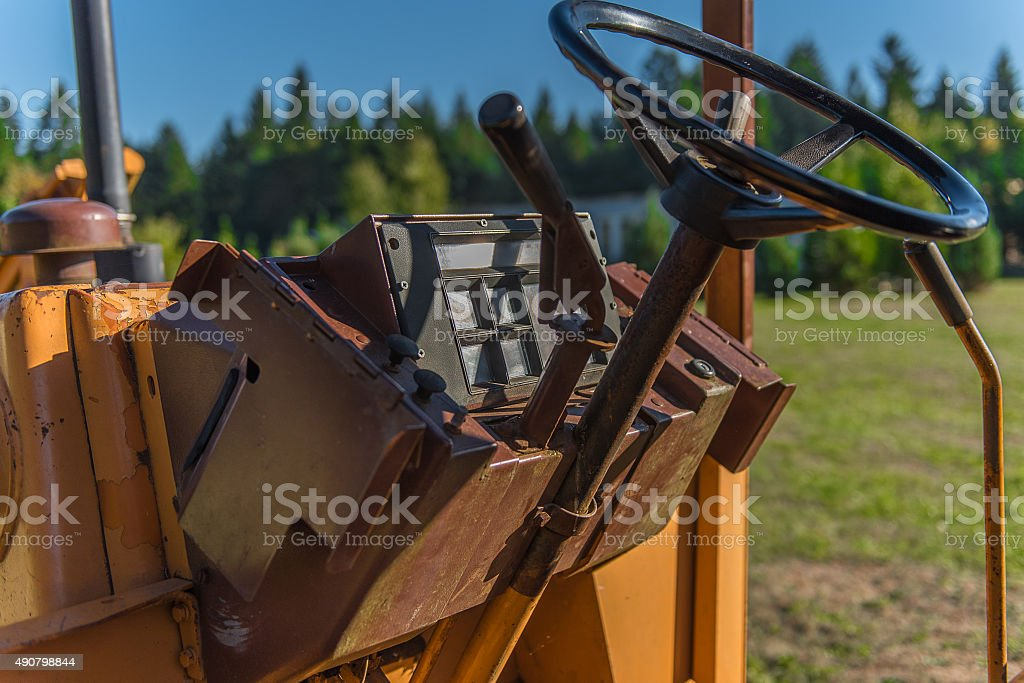 Tractor Dash stock photo