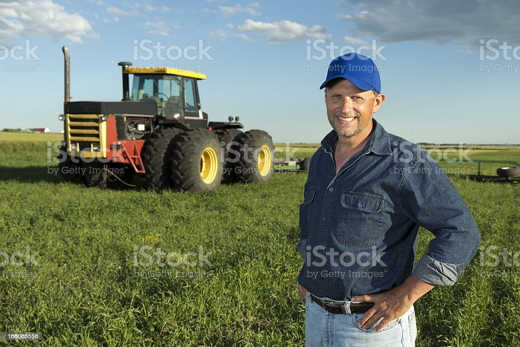 Tractor Driver royalty-free stock photo