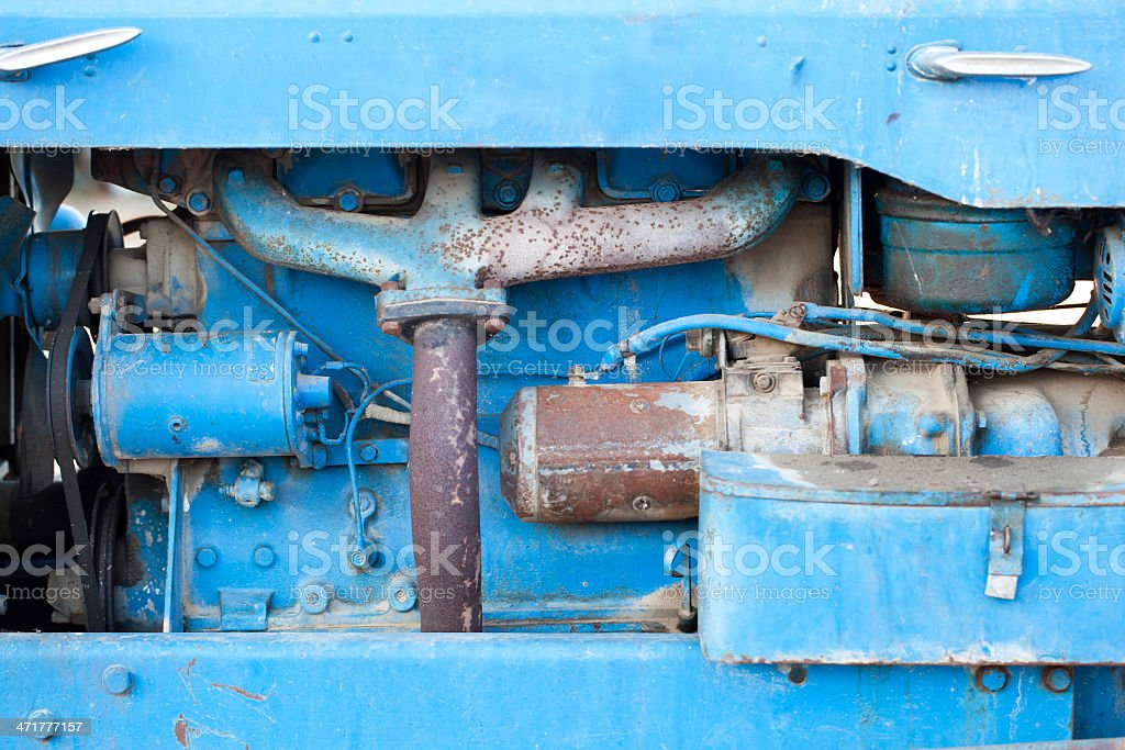 Tractor engine royalty-free stock photo