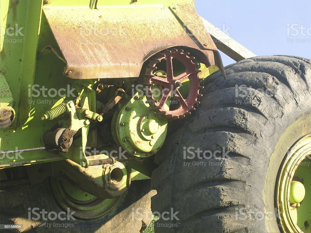 Tractor Gears royalty-free stock photo
