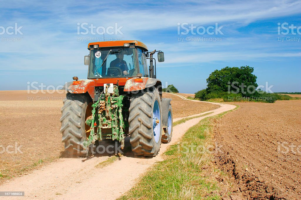 Tractor in Action stock photo
