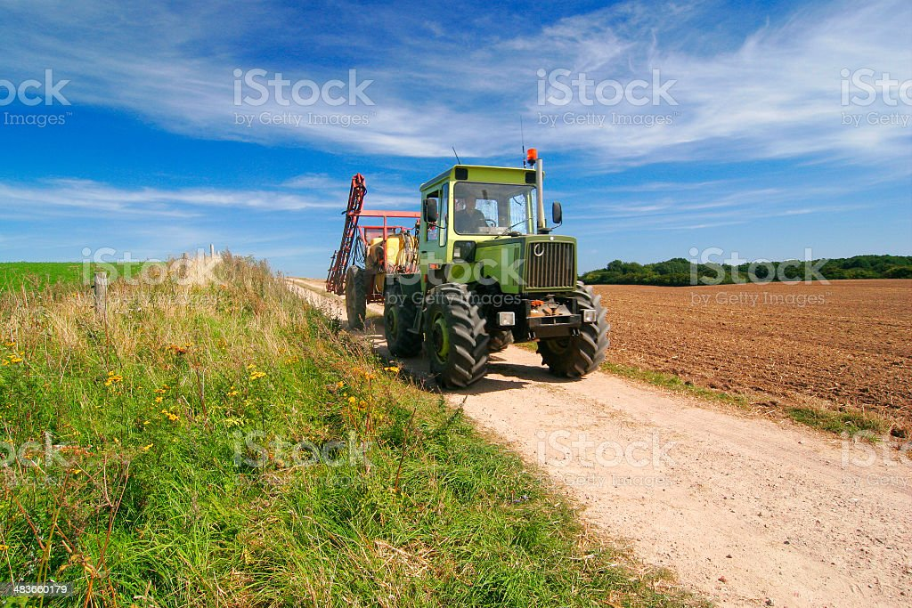 Tractor in Action royalty-free stock photo