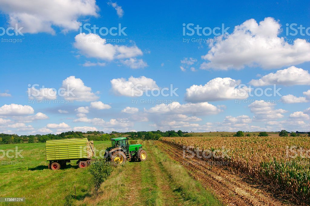Tractor in the Fields royalty-free stock photo