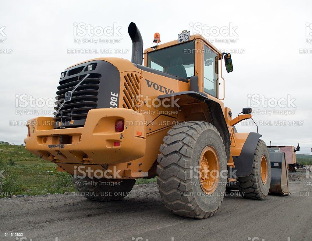Tractor Loader Volvo L90E stock photo