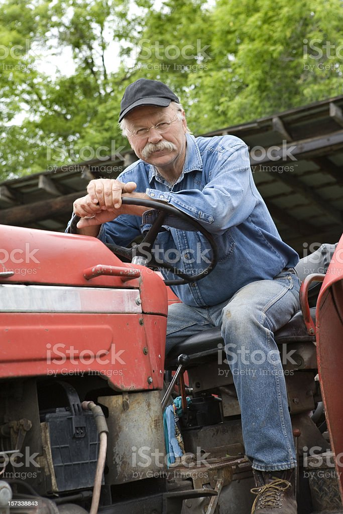 Tractor man royalty-free stock photo