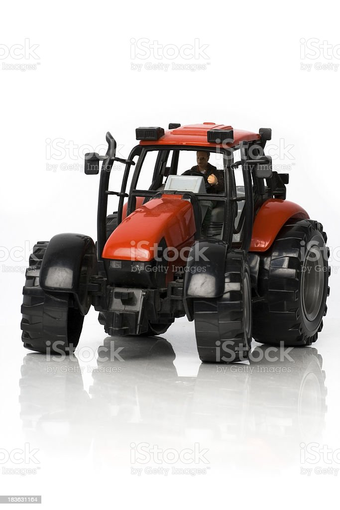 Tractor on a white background royalty-free stock photo