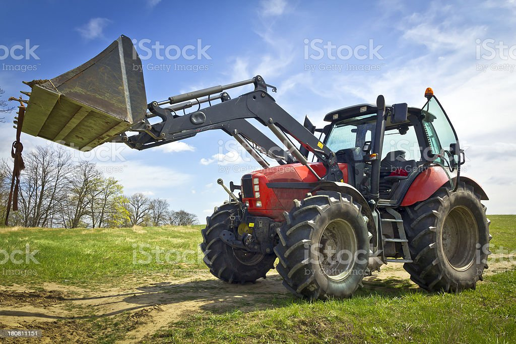 Tractor on the field royalty-free stock photo