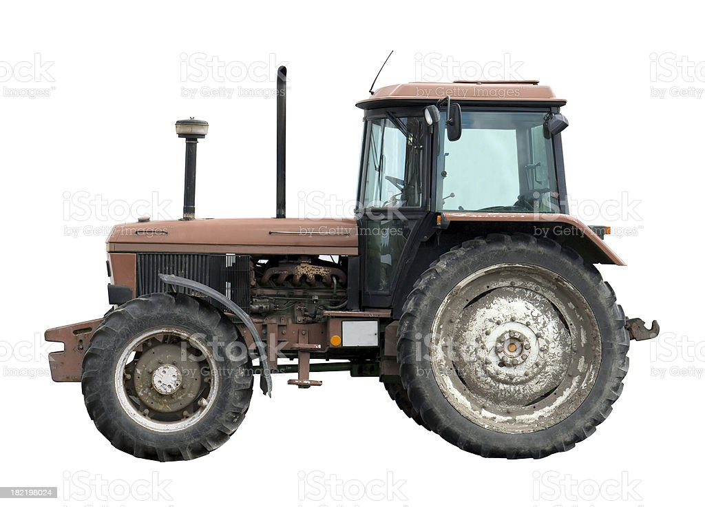 Tractor on white royalty-free stock photo