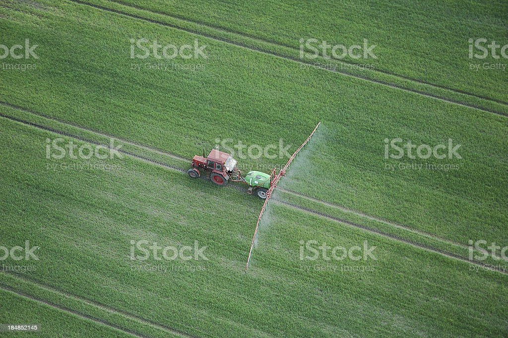 Tractor - plant protection royalty-free stock photo