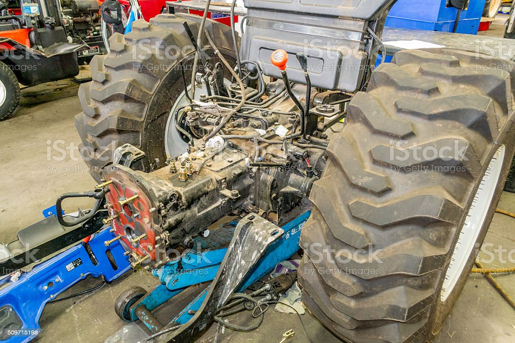 Tractor split for repair stock photo