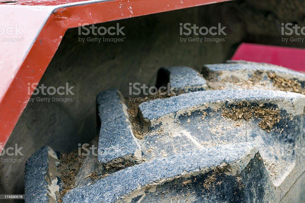 Tractor Tire stock photo