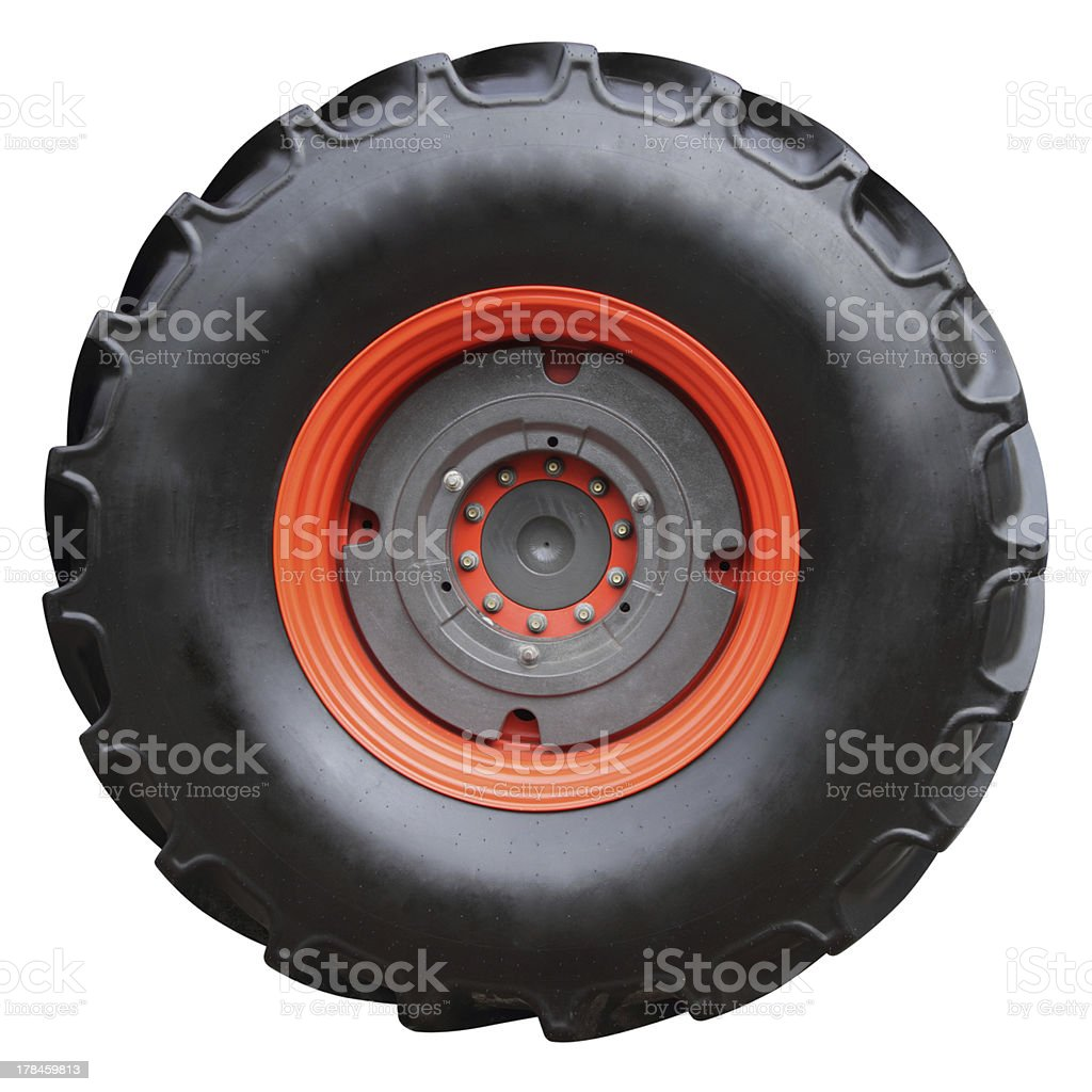 Tractor tire stock photo