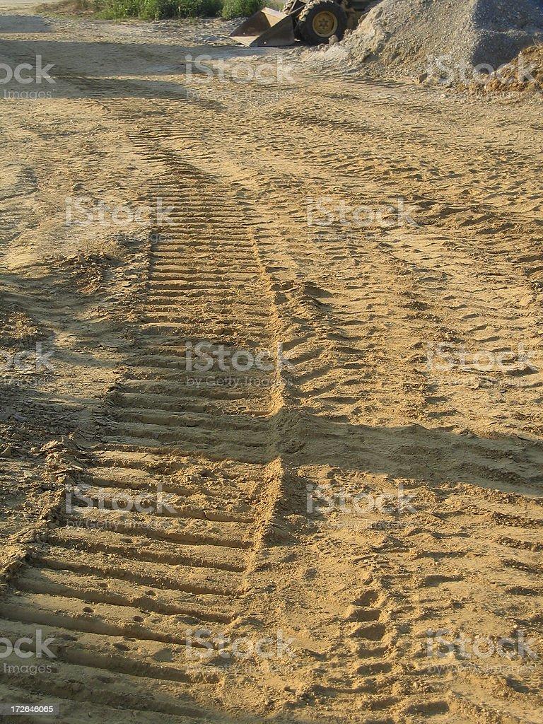 Tractor Tracks royalty-free stock photo
