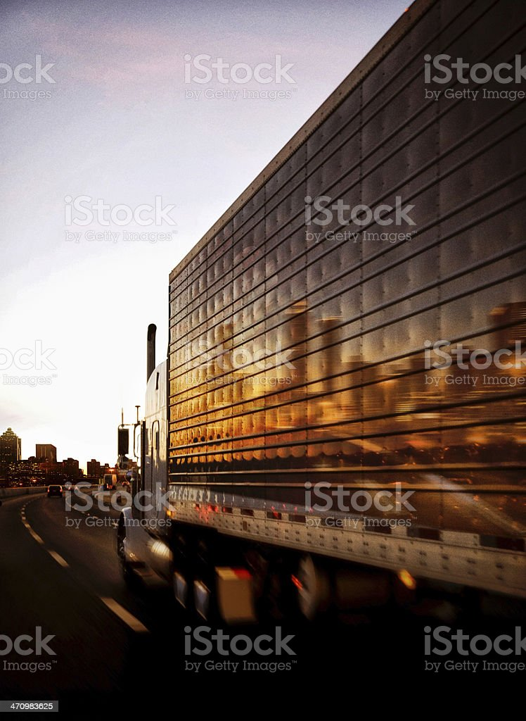 Tractor Trailer stock photo
