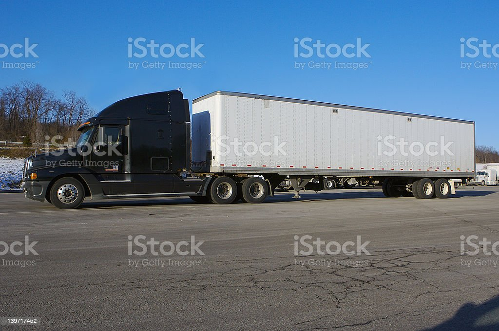 Tractor Trailer Truck royalty-free stock photo
