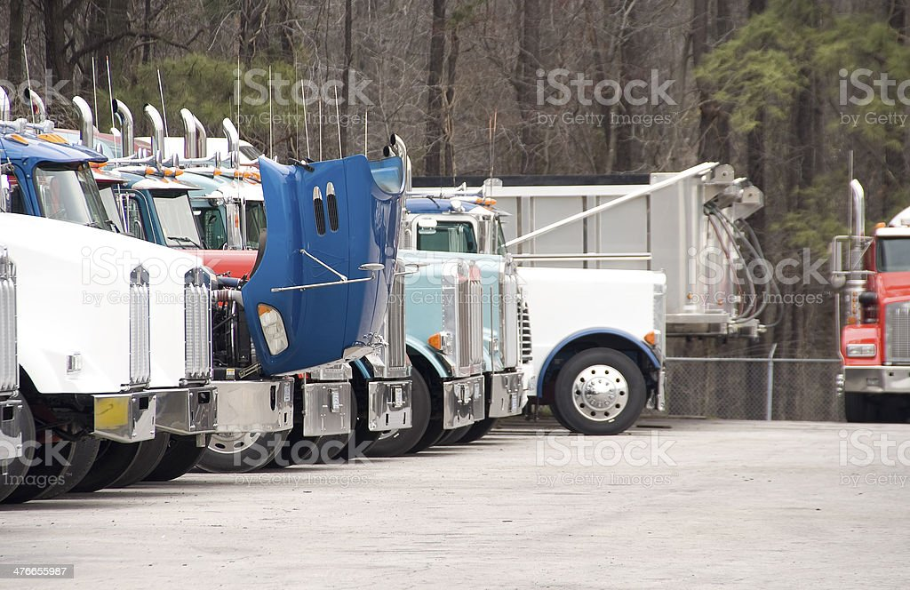 Tractor Trailor royalty-free stock photo
