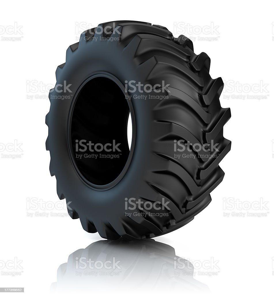 Tractor tyre stock photo