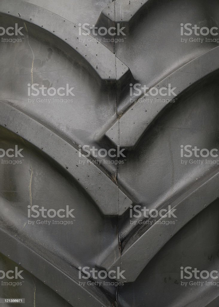 Tractor tyre tread royalty-free stock photo