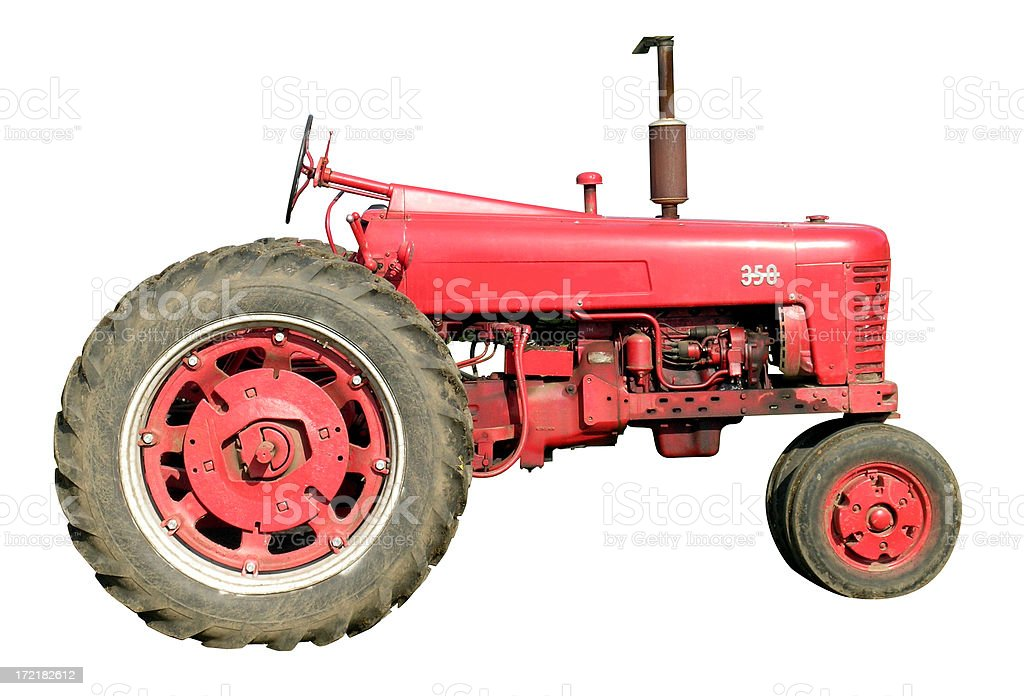 Tractor with clipping path royalty-free stock photo