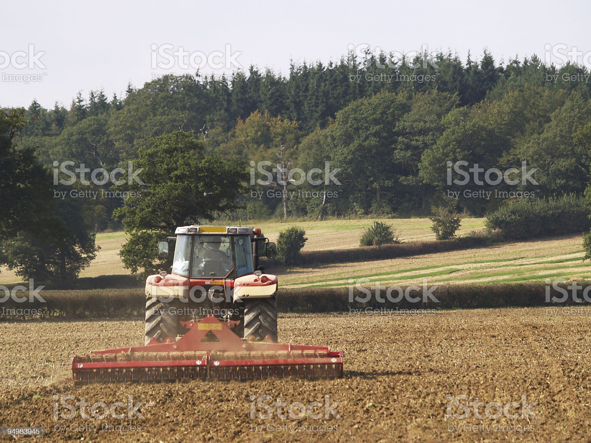 Tractor with Harrow royalty-free stock photo