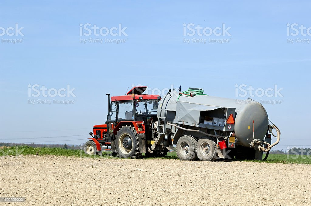 Tractor with reservoir royalty-free stock photo
