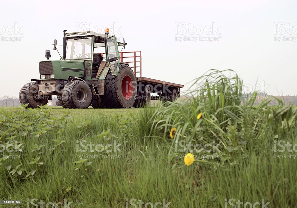 Tractor with trailer royalty-free stock photo