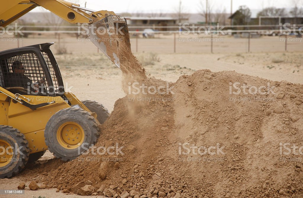 Tractor Work at Construction Site royalty-free stock photo