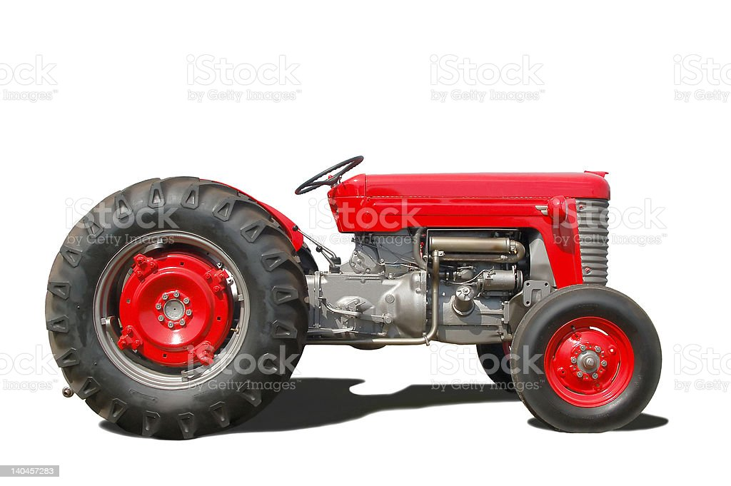 Tractor_side royalty-free stock photo