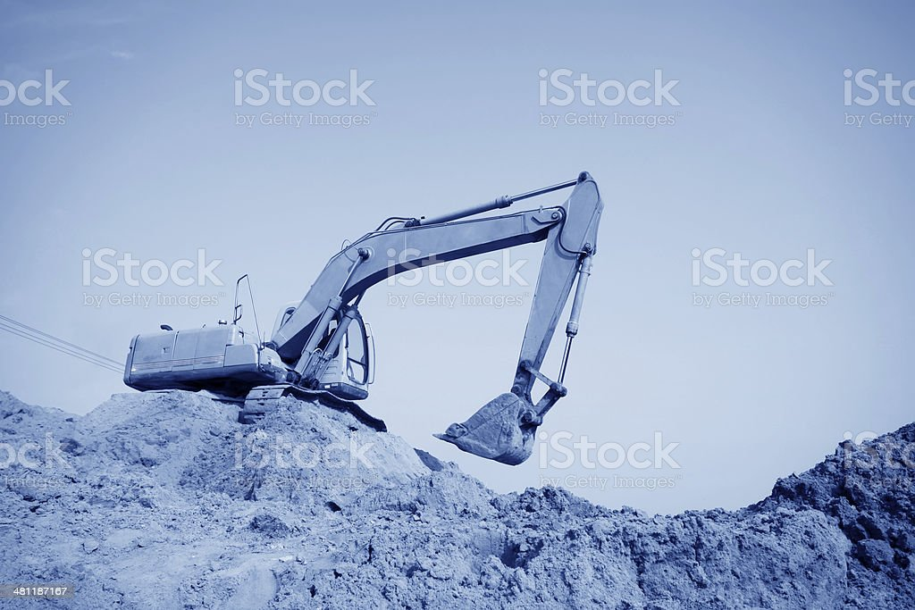 tractors in a construction site stock photo