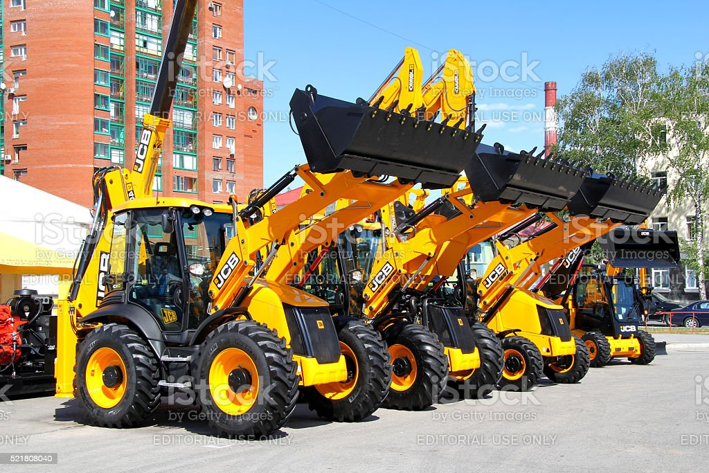 JCB tractors stock photo