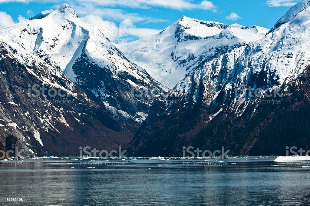 Tracy Arm Alaska stock photo