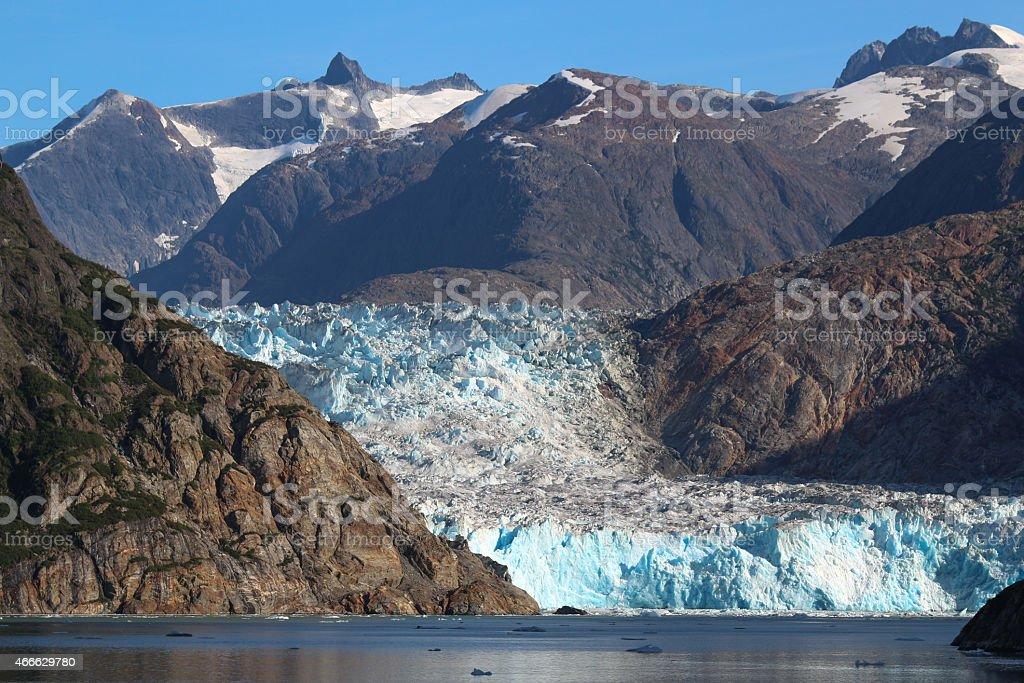 Tracy Arm and the Sawyer Glacier stock photo