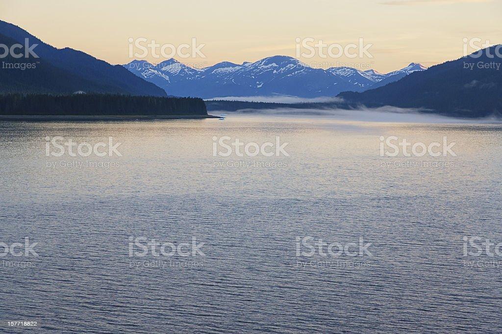 Tracy Arm Fjord, Alaska, USA, Sunrise royalty-free stock photo