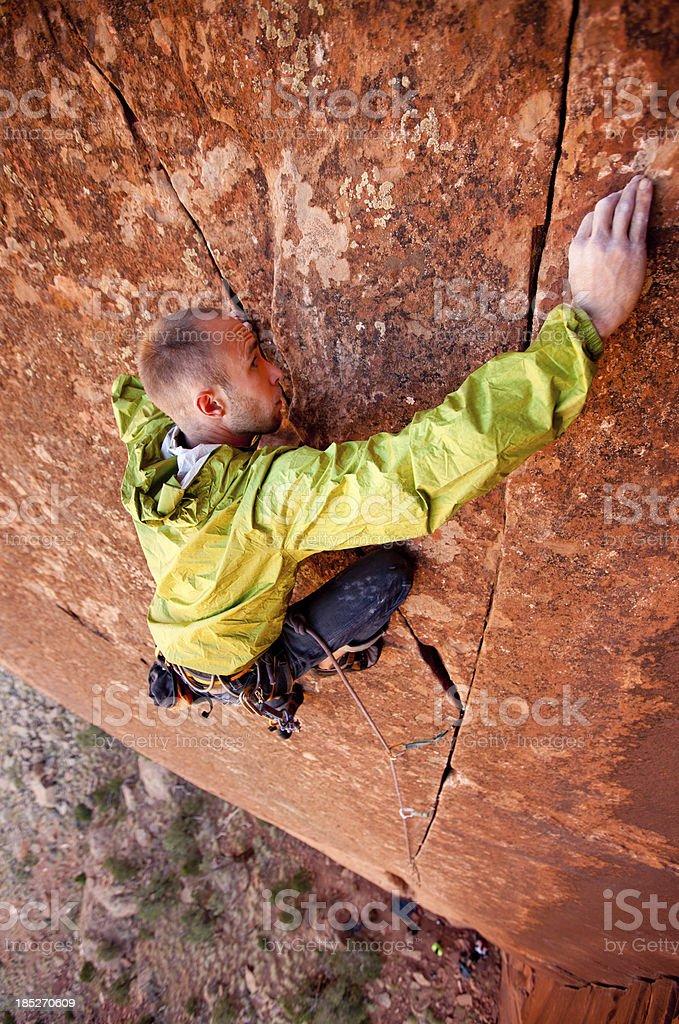 Trad Rock Climbing in Utah at Indian Creek royalty-free stock photo
