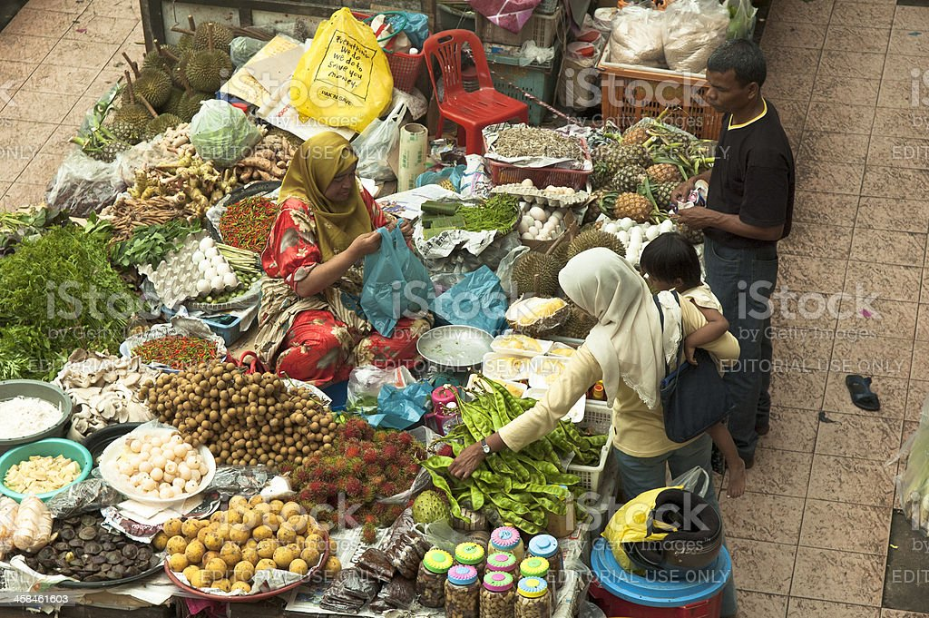 Trade At Kota Bharu Market stock photo
