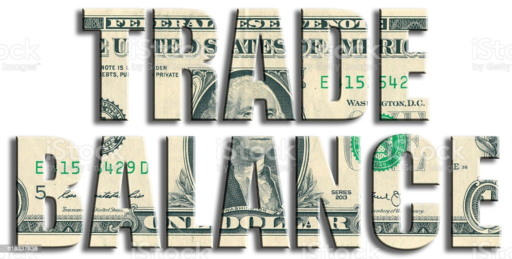 Trade balance or foreign trade. US Dollar texture. stock photo