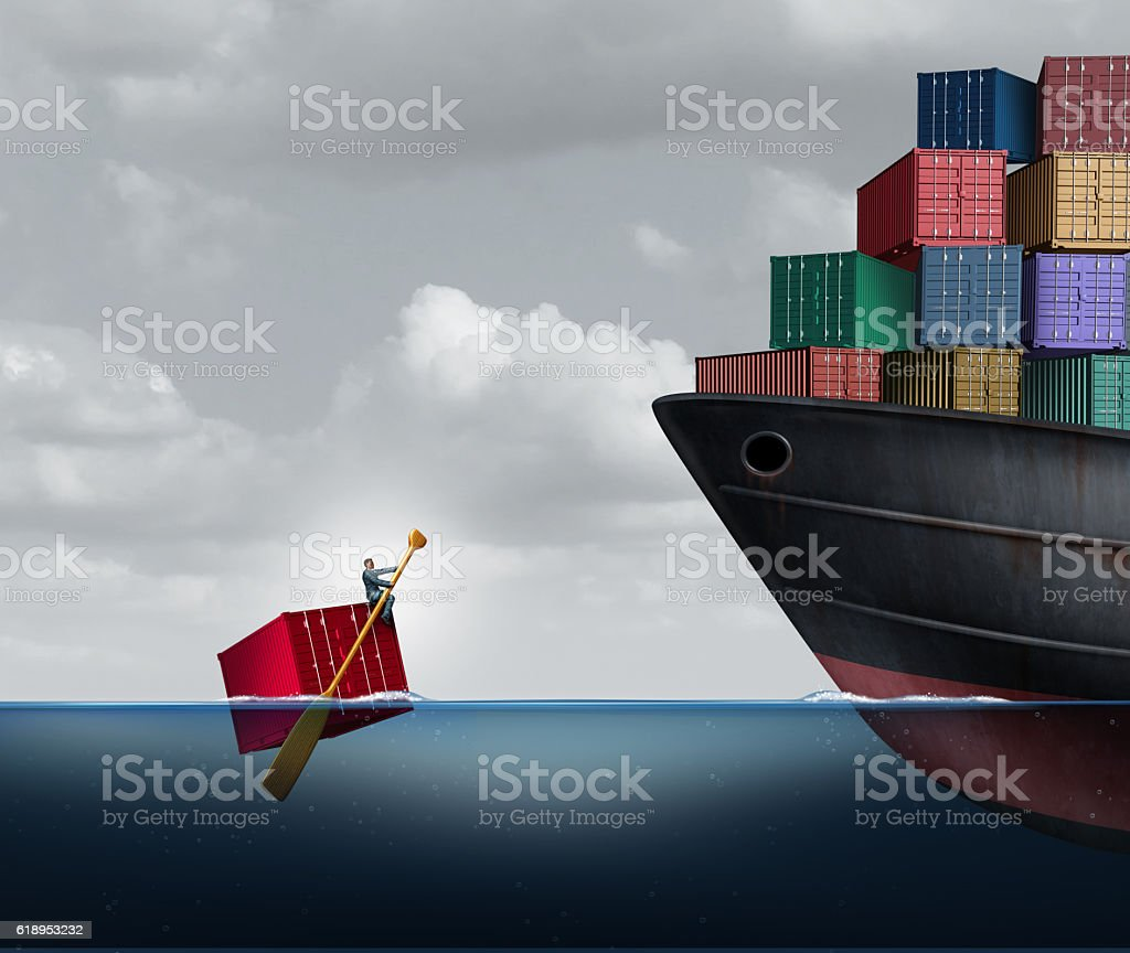 Trade Deficit stock photo