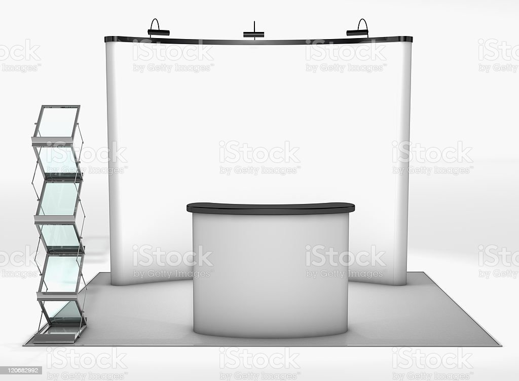 Trade exhibition stand stock photo