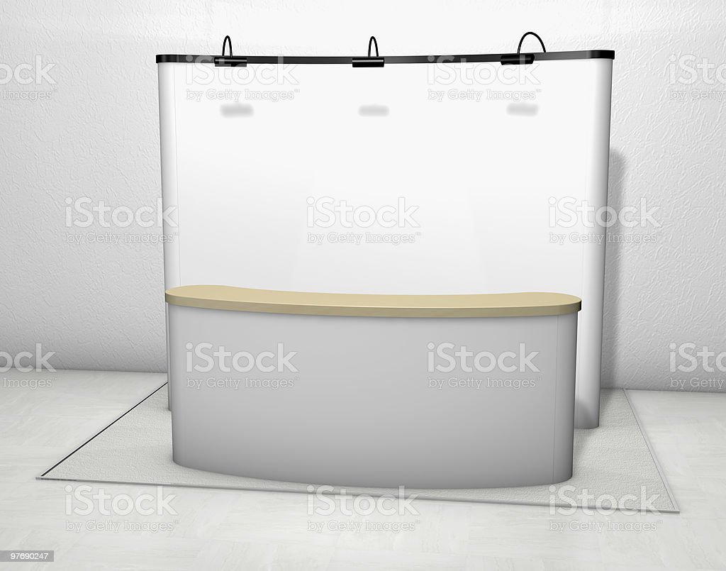 Trade exhibition stand royalty-free stock photo