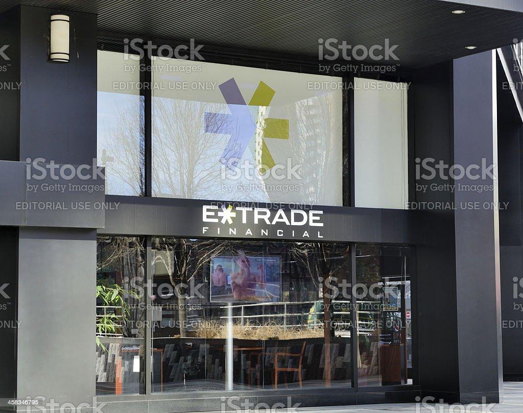 E*Trade Financial royalty-free stock photo