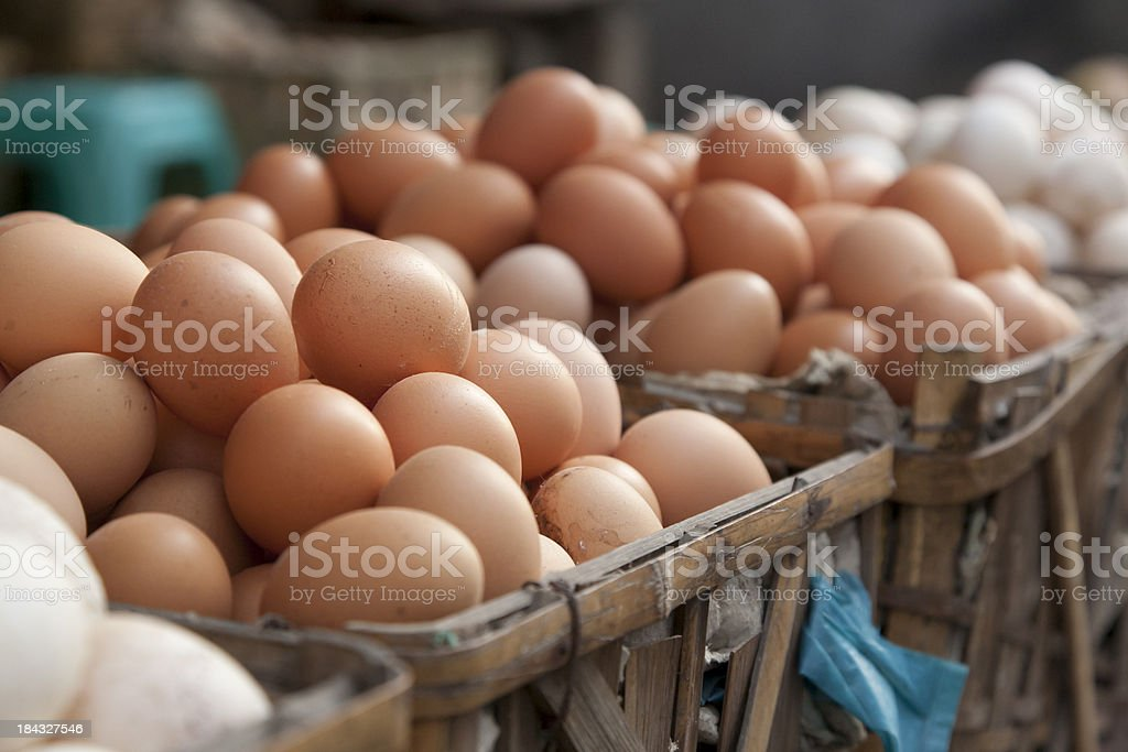 trade in eggs stock photo