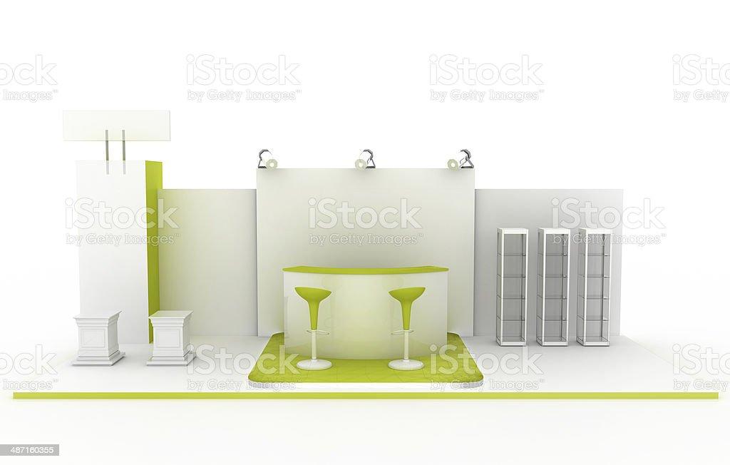 Trade kiosk (copy space) stock photo