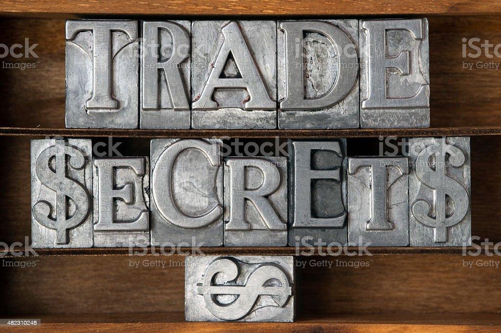 trade secrets stock photo