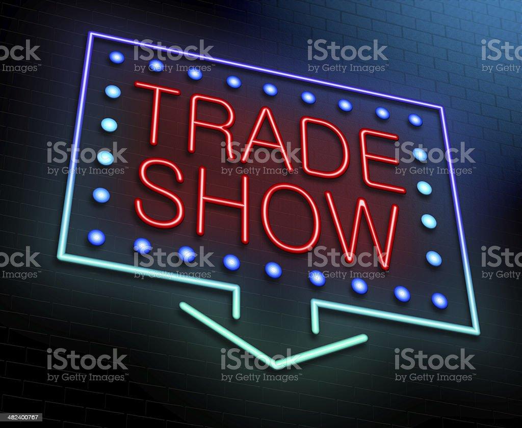 Trade show concept. stock photo