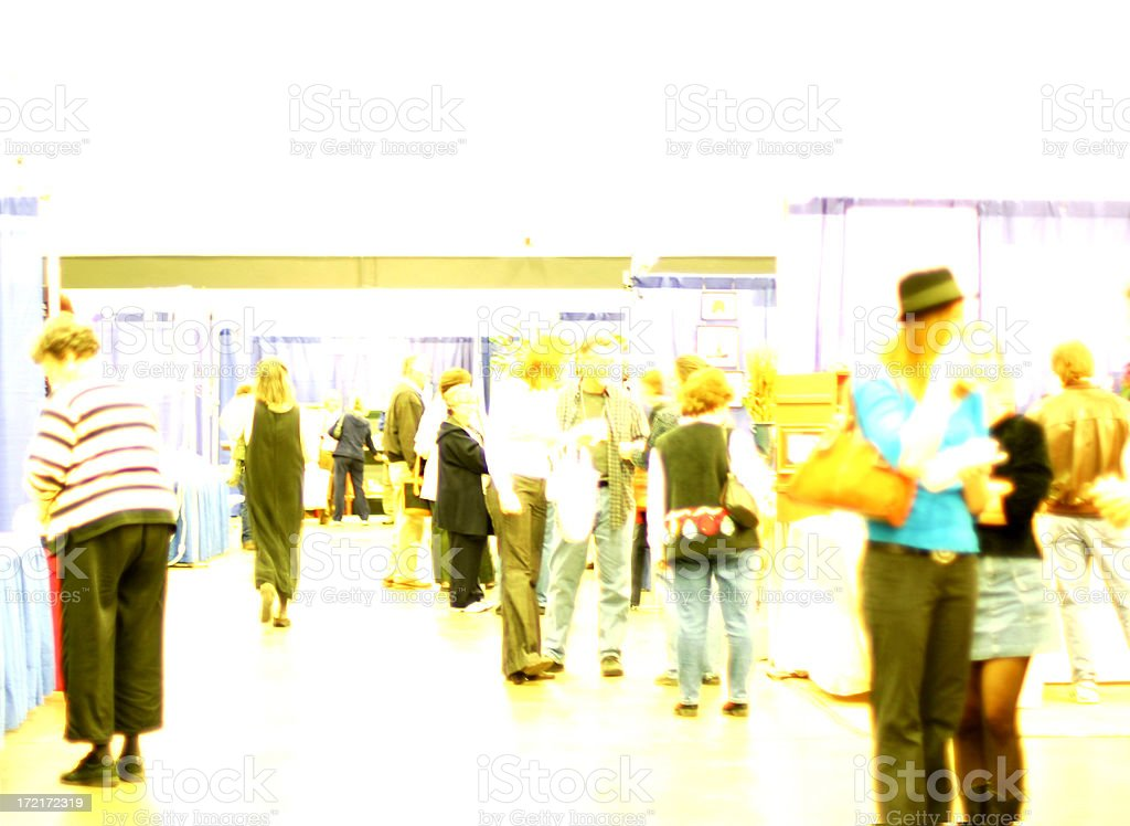 Trade Show Crowd - High Key royalty-free stock photo